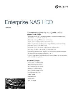View Enterprise NAS HDD Data Sheet PDF