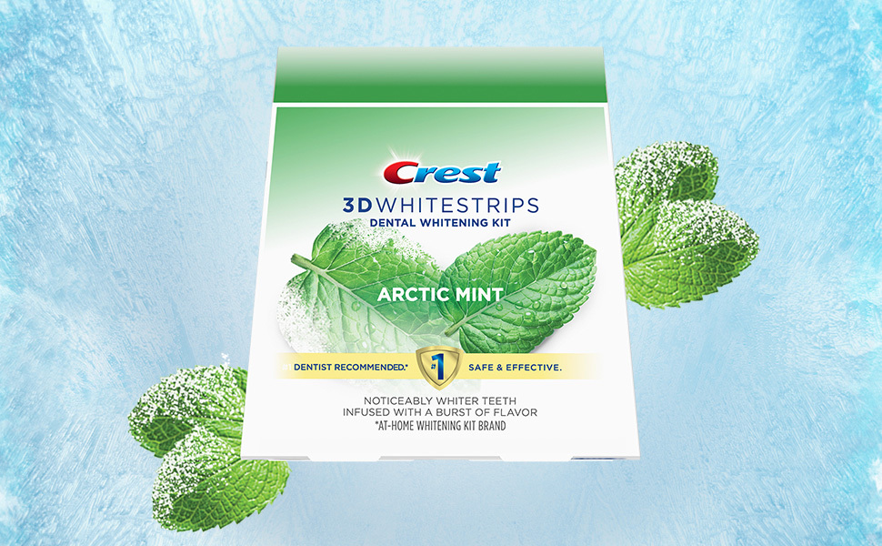 Crest 3D Whitestrips with Arctic Mint flavor