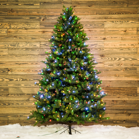 This pre-lit artificial Colorado Spruce Christmas tree brings easy holiday  cheer to your home. - GE 7.5-ft Pre-lit Colorado Spruce Artificial Christmas Tree With 600