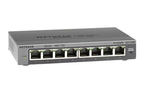 Netgear Prosafe Plus Gs108e Ethernet Switch By Office