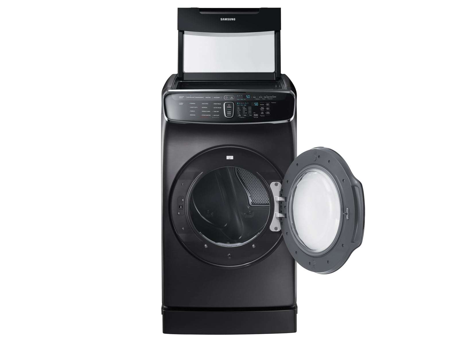 Samsung FlexDry 7 5-cu ft Electric Dryer (Black stainless steel