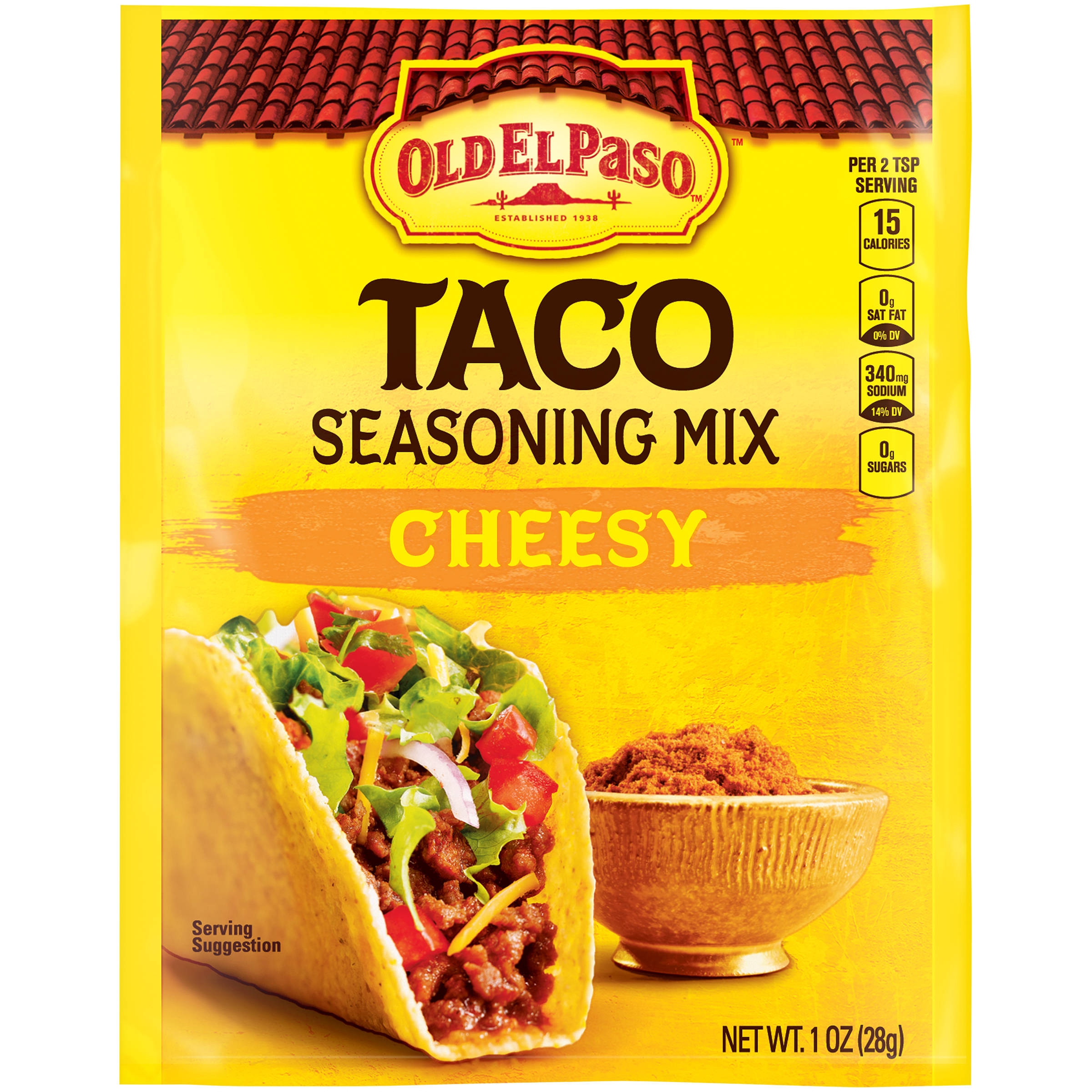 ... paso cheesy taco seasoning mix 1 oz packet 4 4 2 tsp 2 tsp 1 oz 1 oz