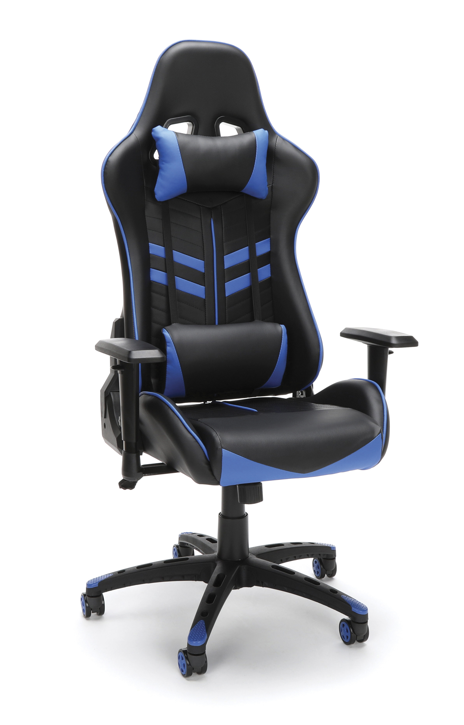 Essentials By Ofm Gaming Chair Blueblack Office Depot