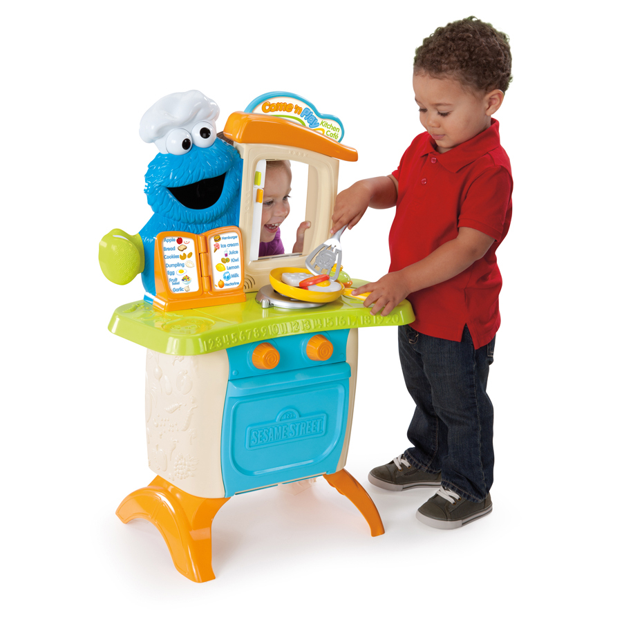 Playskool Sesame Street Come N Play Cookie Monster Kitchen Café Playset