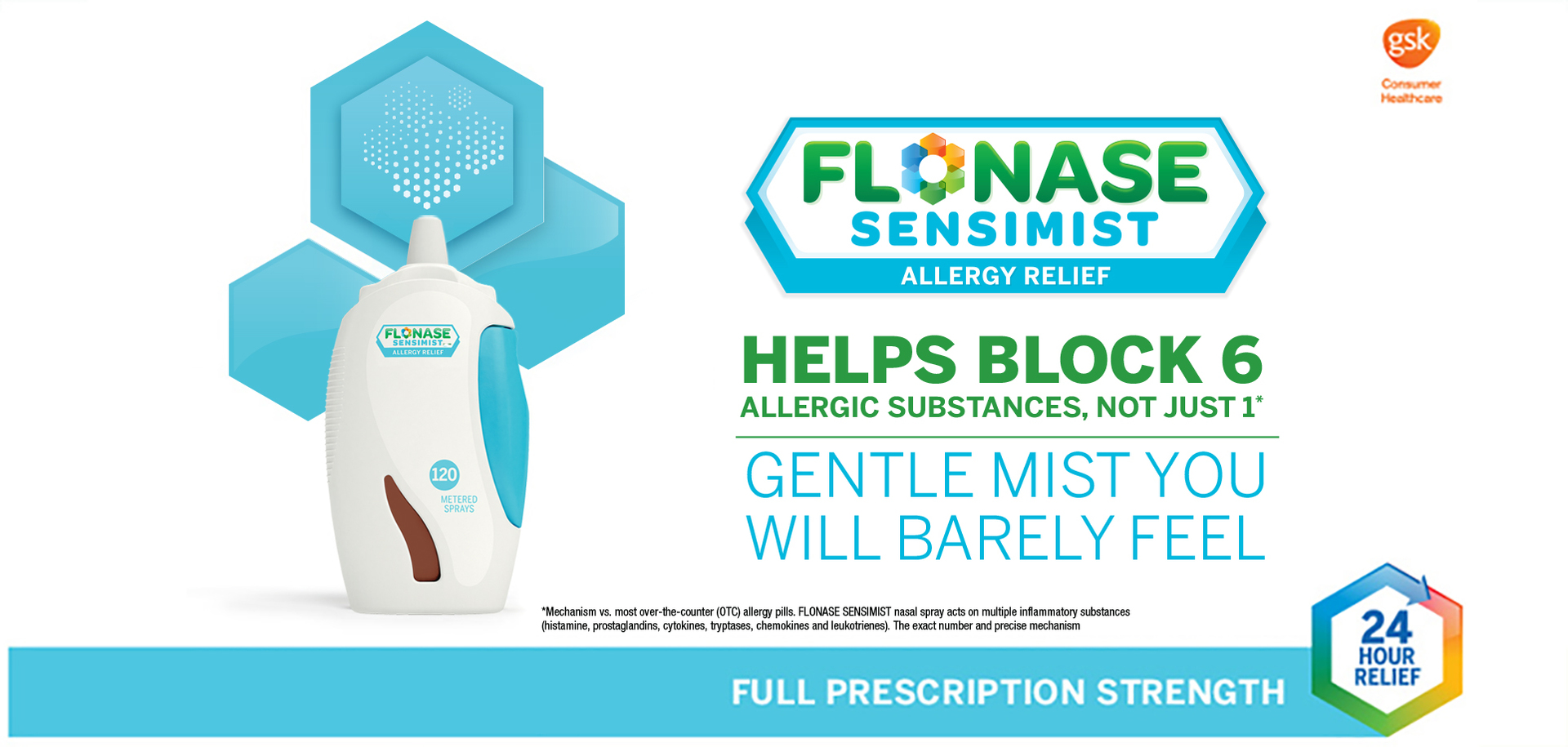 graphic regarding Flonase Coupons Printable named Flonase Sensimist 24hr Allergy Reduction Nasal Spray, Soft Mist, Smell-Totally free, 120 sprays