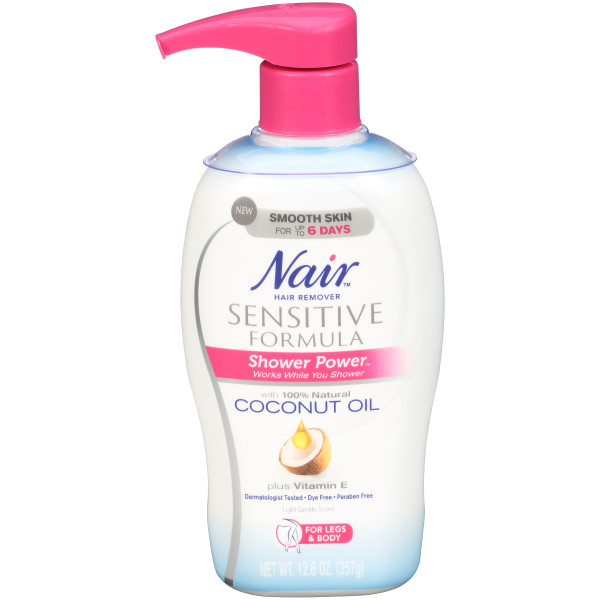 Nair Hair Remover Sensitive Formula Shower Power With Coconut Oil