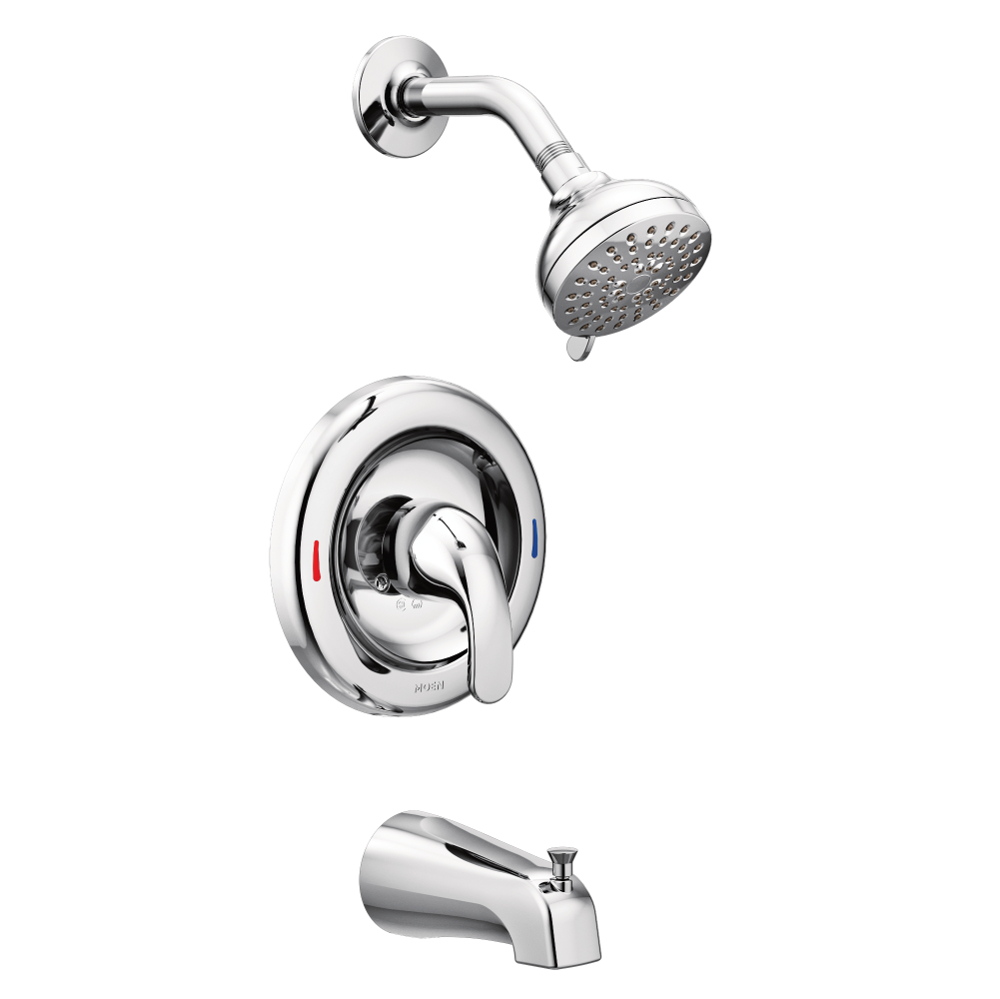 Moen Adler Chrome 1 Handle Bathtub and Shower Faucet with Valve in