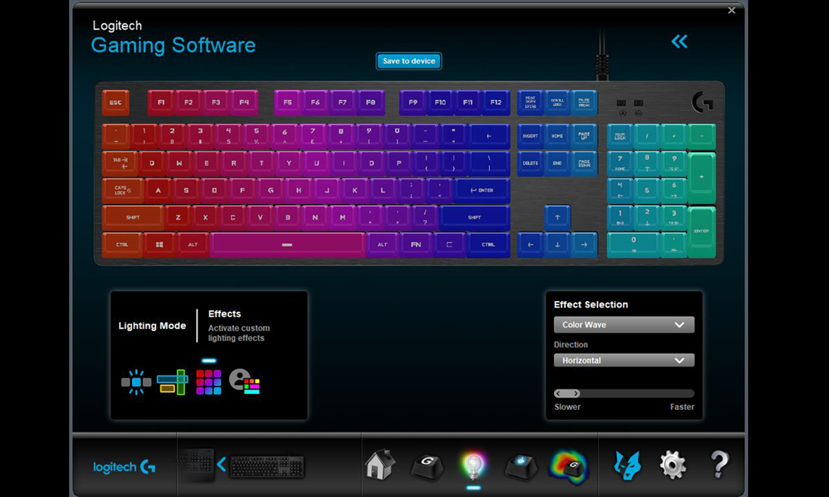 Logitech G513 RGB Mechanical Gaming Keyboard - Linear Carbon