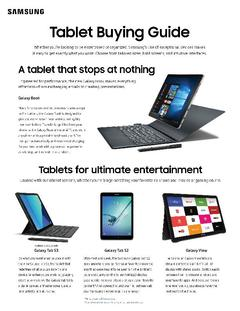 View Tablet Buying Guide PDF