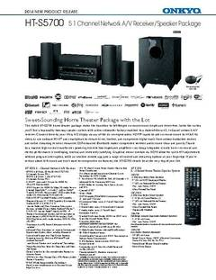 View HT-S5700 Product Sheet PDF