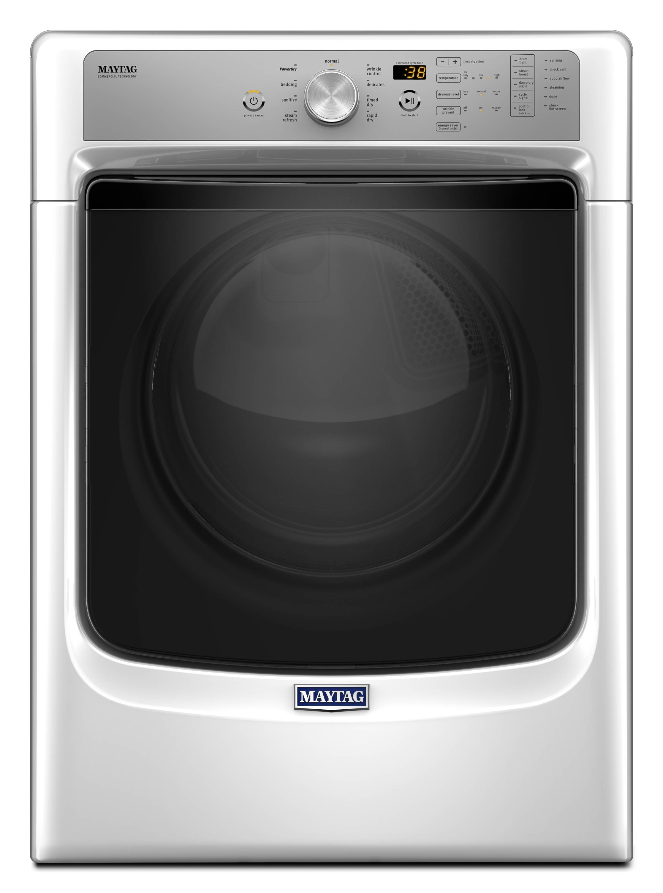 Shop Electric Dryers At Ge Clothes Dryer Wiring Diagram Maytag 74 Cu Ft Stackable White Energy Star