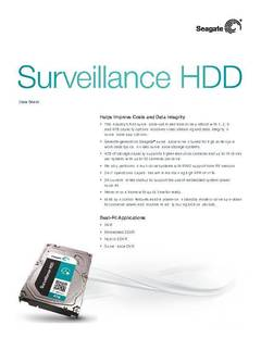 View Surveillance HDD Data Sheet PDF