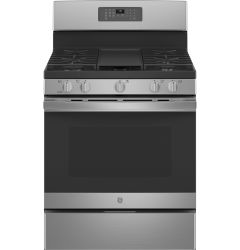 Ge 30 Inch 5 0 Cu Ft Free Standing Gas Range With Edge To Edge Cooktop
