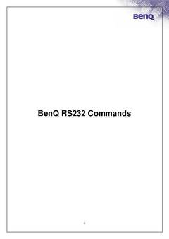 RS232 Command Reference Guide - opens PDF