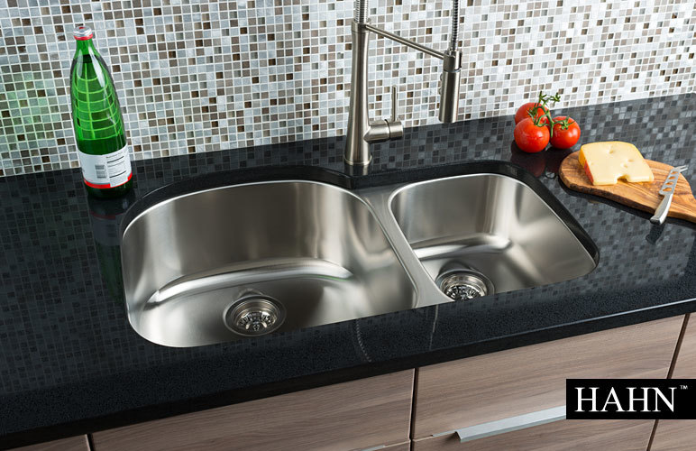 Hahn Chef Series 70 30 Double Bowl Sink