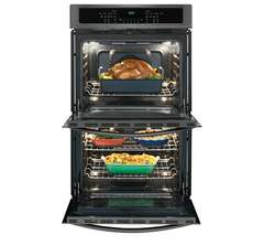 Frigidaire Gallery Double Wall Oven: FGET3065PD, Door open, Loaded