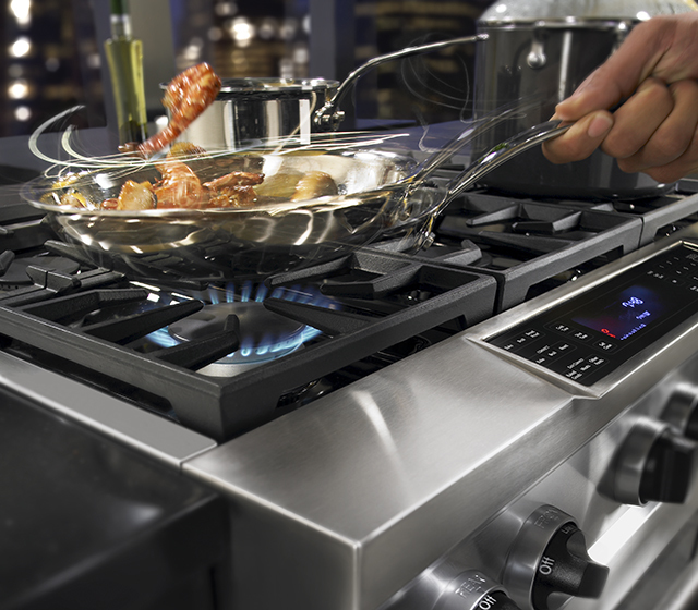 Dual Fuel Range   Satisfies The Culinary Needs Of The Most Demanding Cooks  By Combining The Precise Control Of A Gas Cooking Surface With An Electric  Oven.