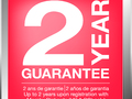 Up to 2 years guarantee