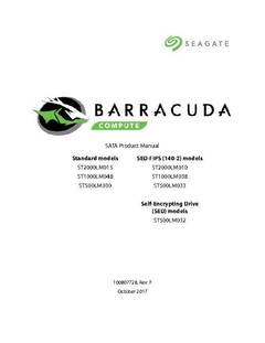 View BarraCuda 2TB (2.5) Product Manual PDF
