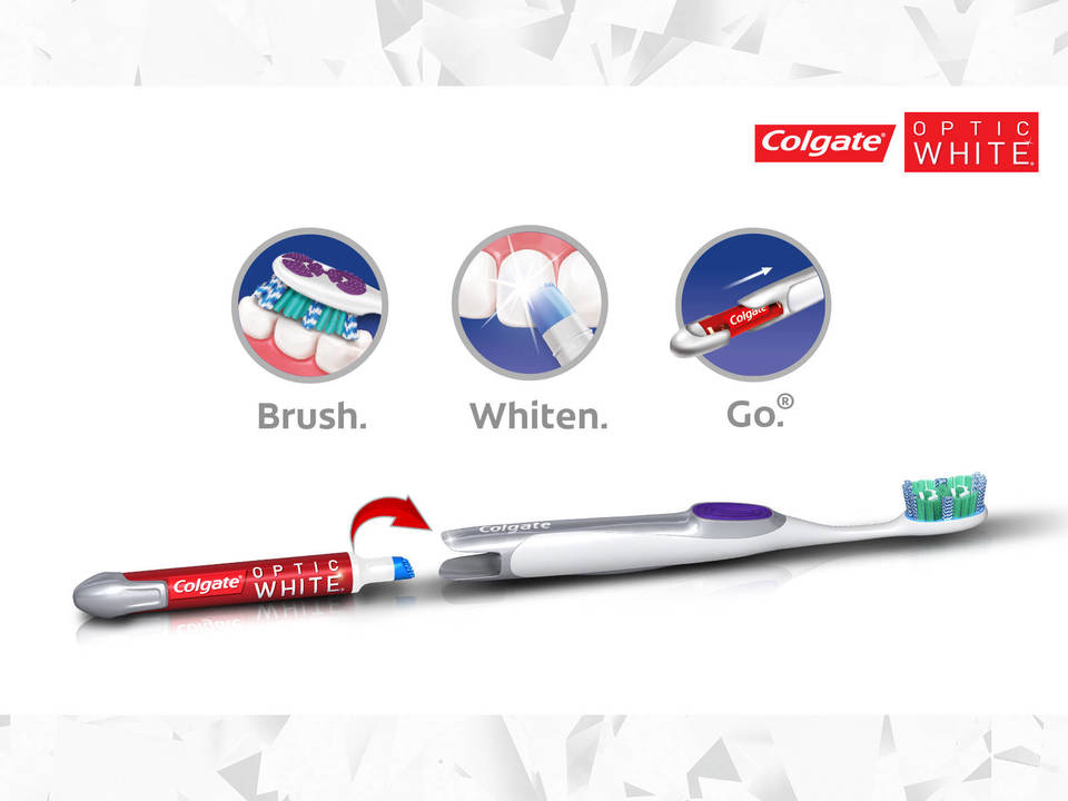 D Colgate Optic White Toothbrush Whitening Pen Soft Tooth