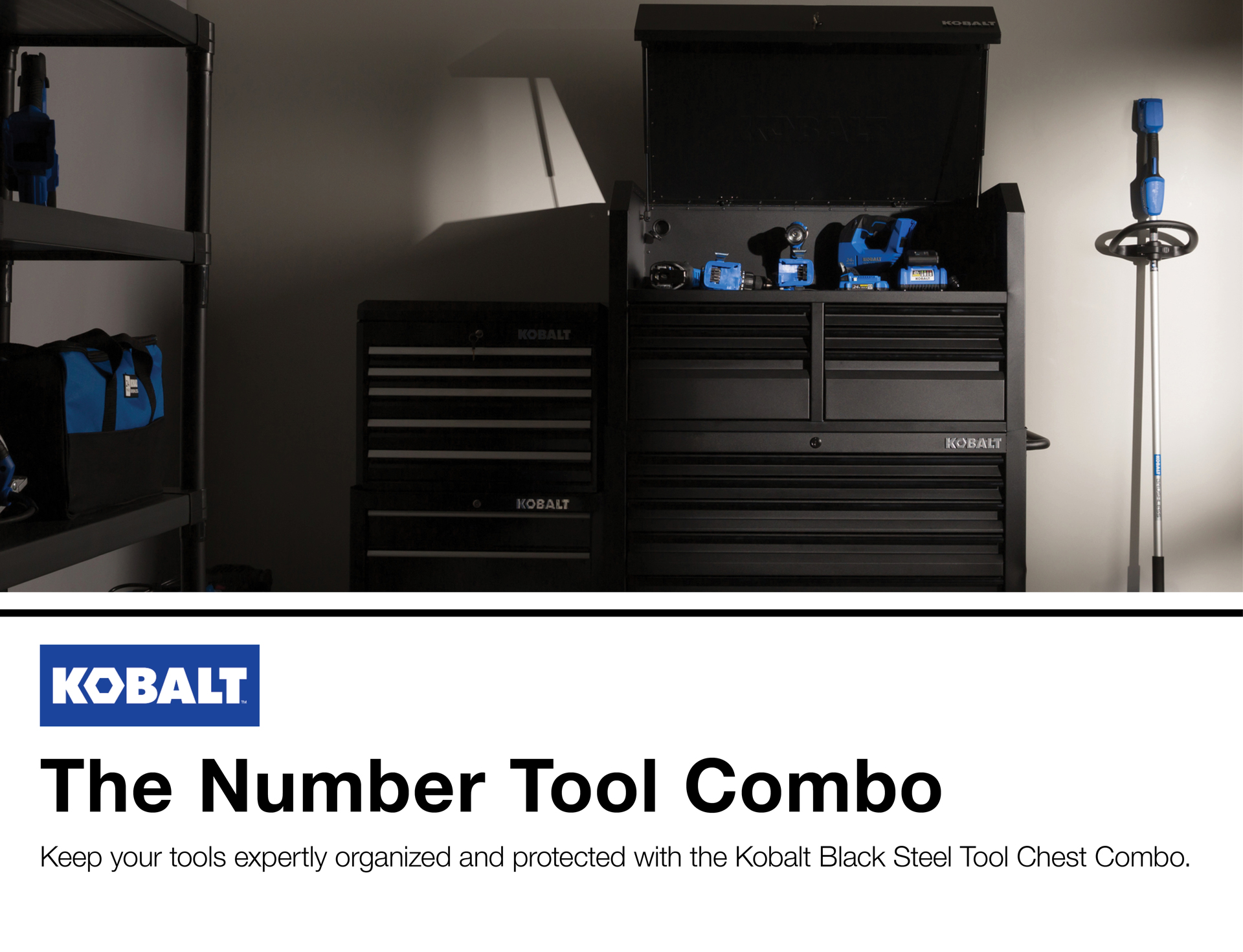 Kobalt 41-in W x 63 4-in H 12 Ball-bearing Steel Tool Chest