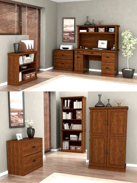 Better Homes and Gardens 5 Shelf Bookcase Abby Oak Walmartcom
