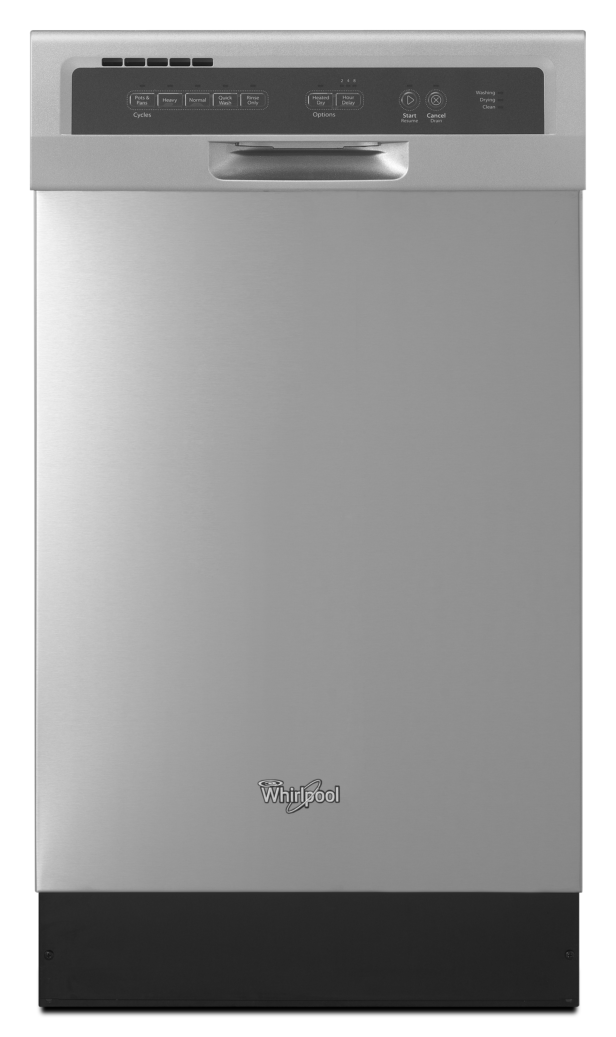 Whirlpool 57 Decibel Built In Dishwasher Monochromatic Stainless