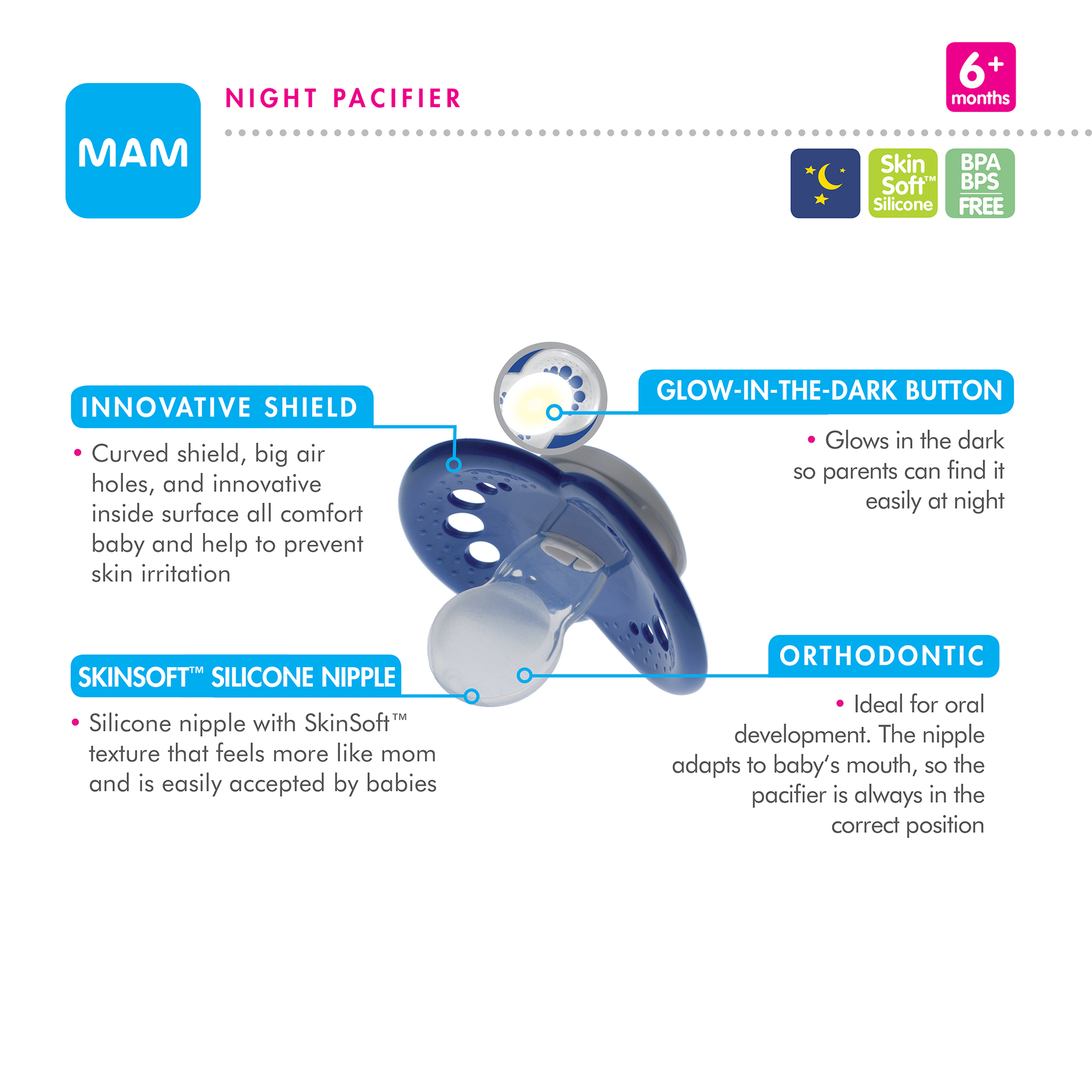image relating to Mam Printable Coupon called MAM Pacifier, Orthodontic, 6+ Weeks 3 pacifiers