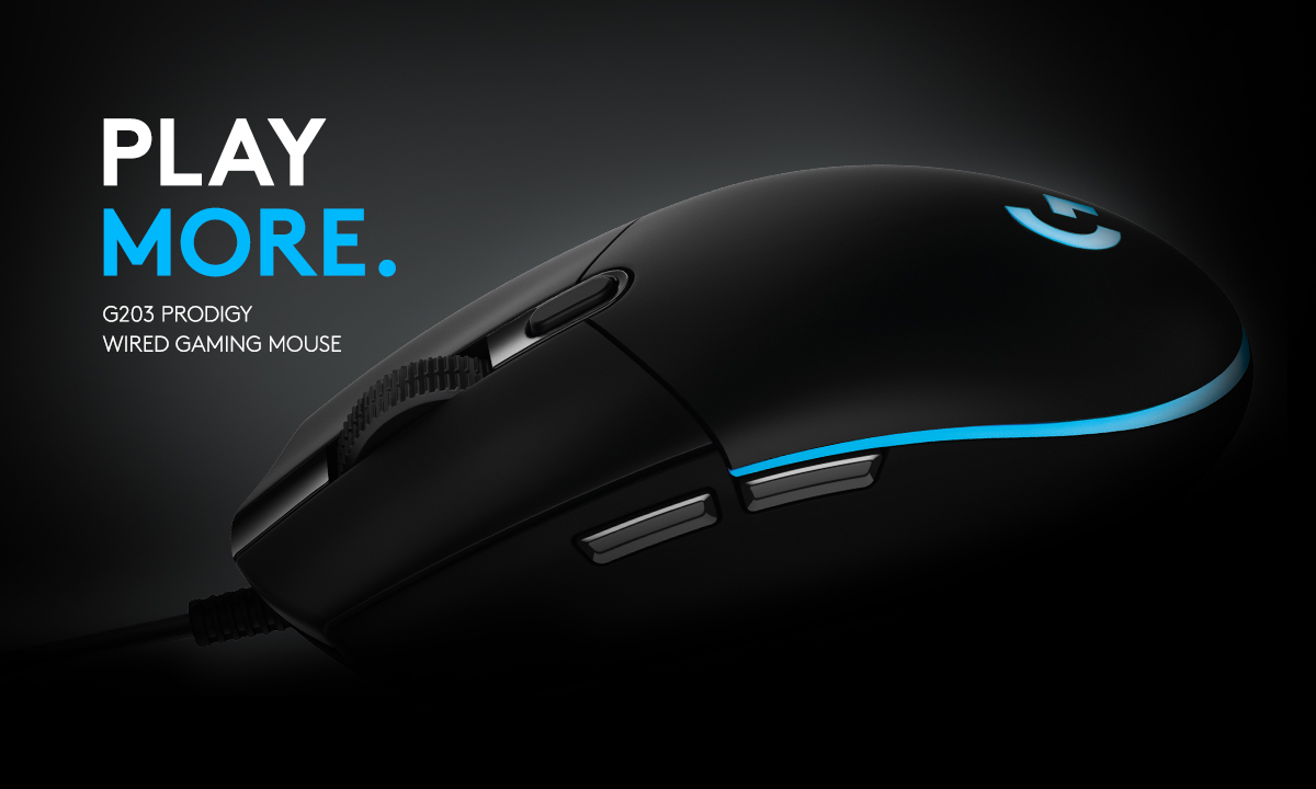 PLAY MORE. Logitech G203 Prodigy Wired Gaming Mouse