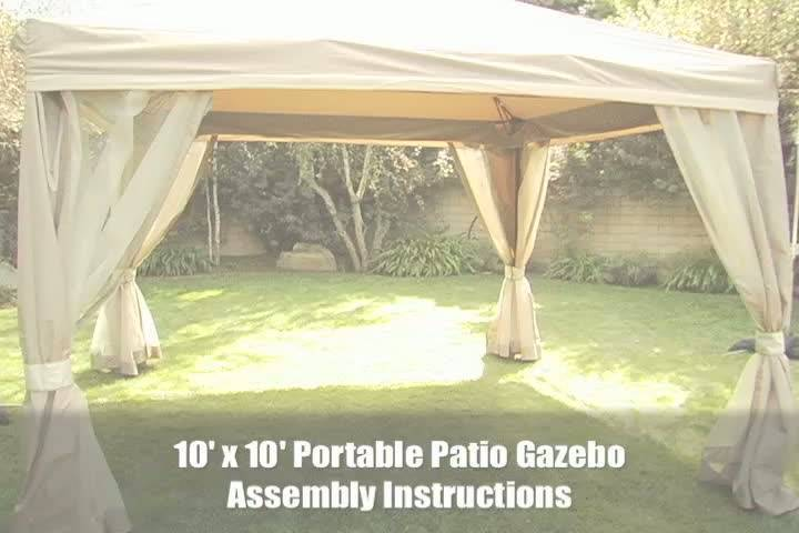 10u0027 X 10u0027 Pitched Roof Line Portable Patio Gazebo   Walmart.com
