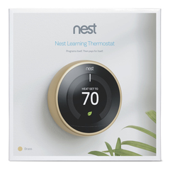 Nest Learning Thermostat, 3rd generation Brass packaging