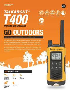 View Talkabout T400 Data Sheet PDF