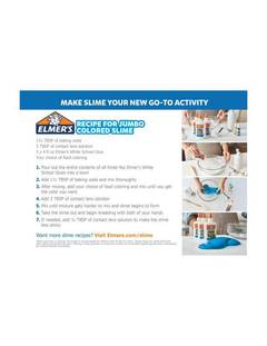 View Elmer's Jumbo Colorful Slime PDF