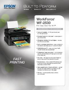 WorkForce WF-2530 Product Specifications - opens PDF