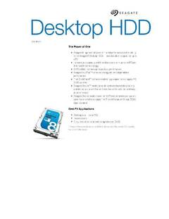 View Desktop HDD Data Sheet PDF