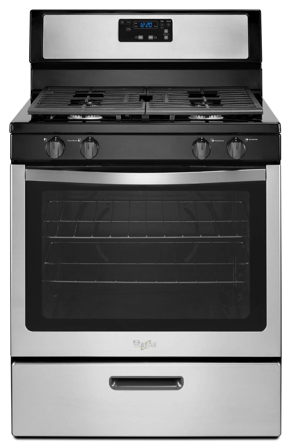 Marvelous Gas Range Oven Part - 12: Whirlpool Freestanding 5.1-cu Ft Gas Range (Stainless Steel) (Common: 30