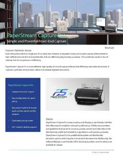View Datasheet for PaperStream Capture Pro PDF