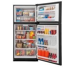 Frigidaire Top-Mount Refrigerator: FFHT2021TB, Door open, Loaded
