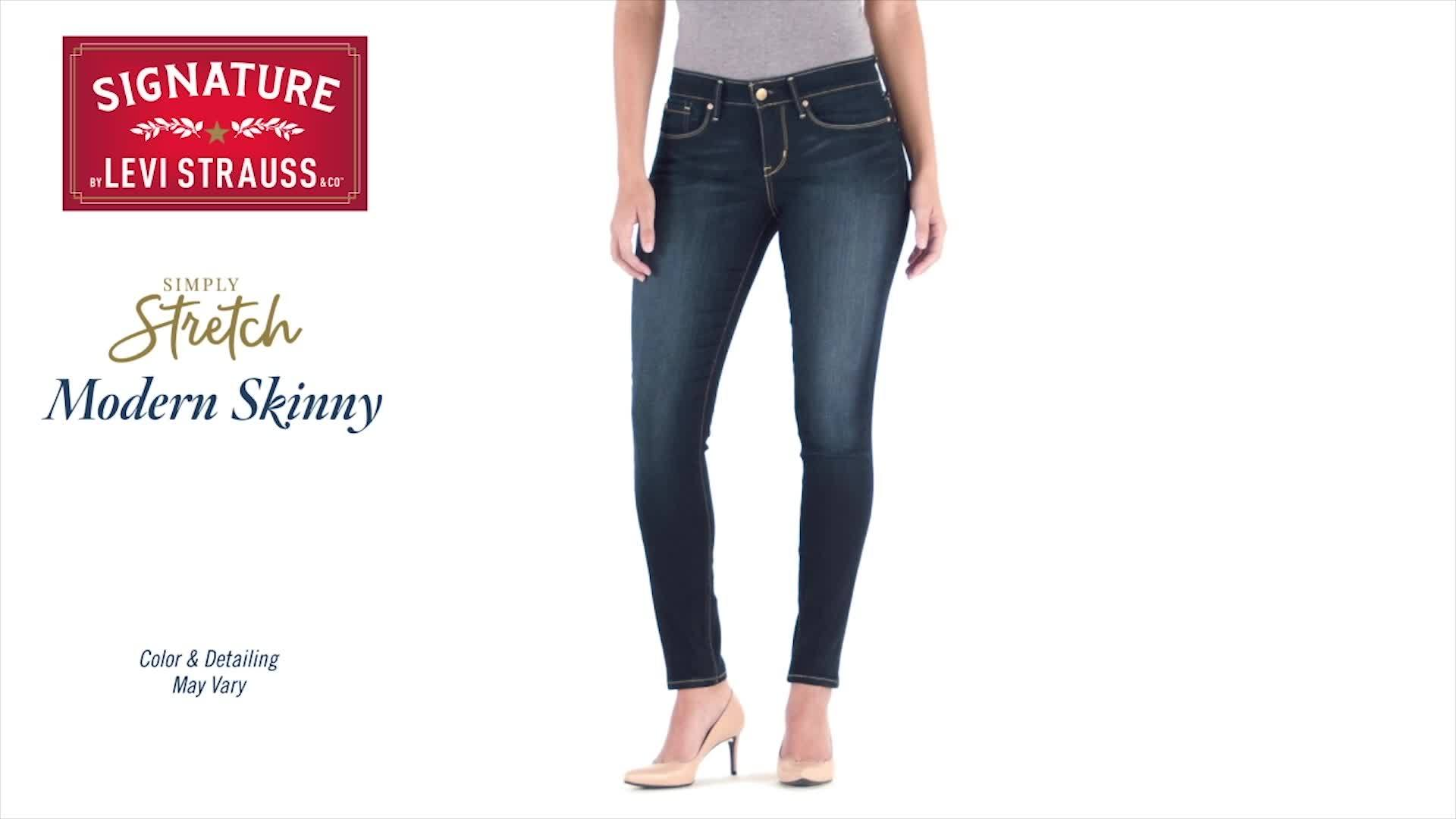 dc11eb4e1609 Signature by Levi Strauss & Co. - Signature by Levi Strauss & Co. Women's  Modern Skinny Jeans - Walmart.com