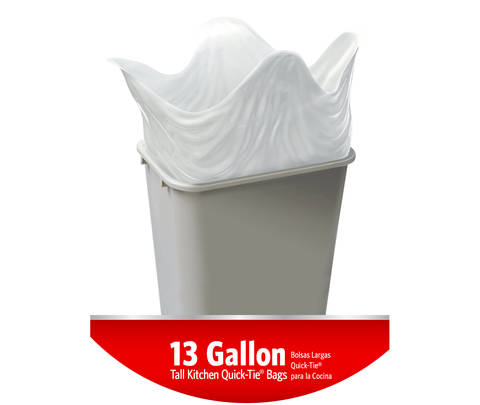Kitchen Strong and Quick-Tie® Simple  sc 1 st  Walmart & Glad Tall Quick - Tie Kitchen Trash Bags - 13 Gallon - 80 ct ...