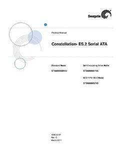 Constellation ES.2 SATA Product Manual - opens PDF