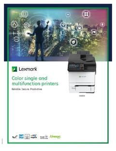 View Lexmark Color single and multifunction printers PDF