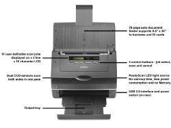 The WorkForce Pro GT-S50 offers a host of features in a compact, desktop scanner.