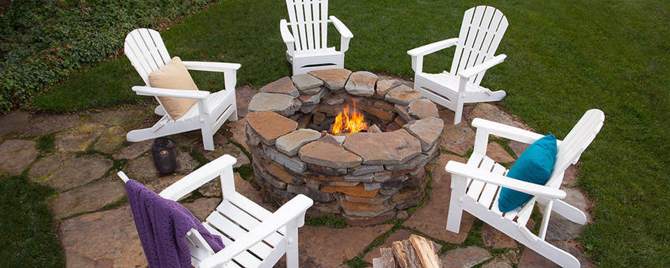 The POLYWOOD St. Croix Adirondack Provides The Perfect Seat Height For  Lounging And Is Most Commonly Placed Around A Fire Pit Or Paired With A  Side Table Or ...