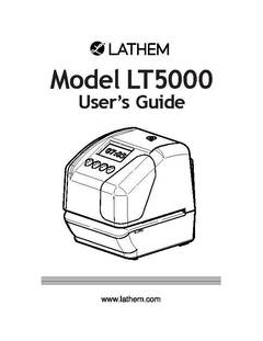 View LT5000 User's Guide PDF