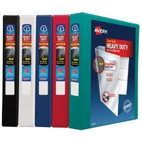 avery 2 heavy duty view binder with one touch ezd rings target