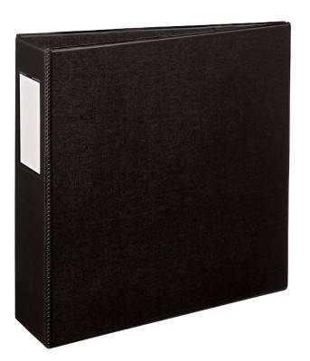 avery durable binder with ez turn rings 8 12 x 11 3 rings