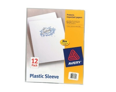 Avery® Plastic Sleeves, Letter Size, Clear, Pack Of 12 Item # 701193