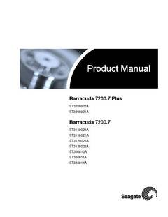 View Barracuda 7200.7 PATA Product Manual PDF