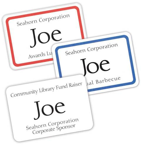 Avery Printable SelfAdhesive Name Badges X White - Target employee name tag template
